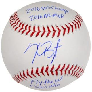 Kris Bryant Signed LE Baseball with (4) Inscriptions (MLB & Fanatics)