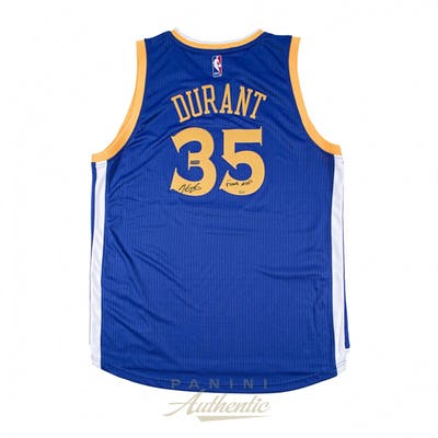 Kevin Durant Signed Warriors LE Authentic Swingman Jersey Inscribed