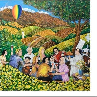 "Guy Buffet Signed ""Napa Valley Mustard Festival"" Limited Edition 30x30"