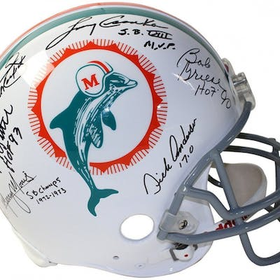 1972 Dolphins Full-Size Authentic On-Field Helmet Team-Signed by (6)