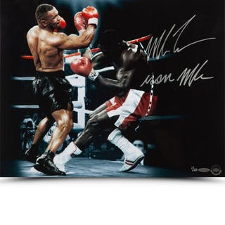 "Mike Tyson Signed ""Bullied"" 16x20 Limited Edition Photo Inscribed"