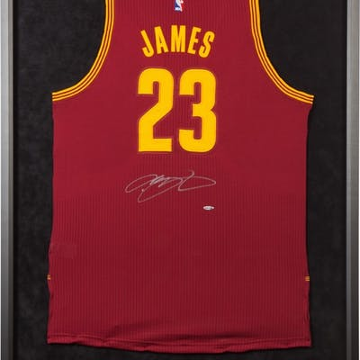 online store fa50b 5f73a LeBron James Signed Cleveland Cavaliers 32x38 Custom Framed ...