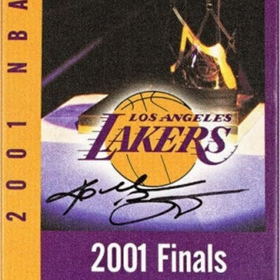 "Kobe Bryant Signed ""2001 NBA Finals"" 9x33 Limited Edition Oversized"