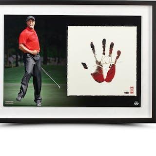 Tiger Woods Signed 20x28 Custom Framed Limited Edition Tegata Print (UDA COA)