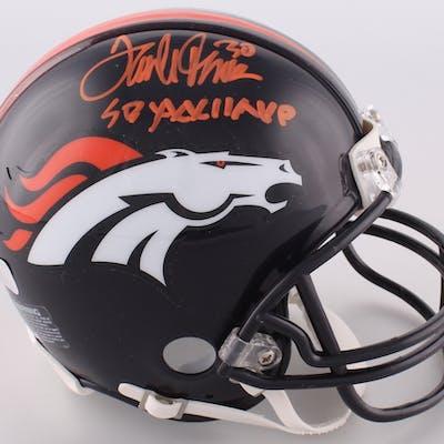 "Terrell Davis Signed Broncos Mini-Helmet Inscribed ""SB XXXII MVP"" (Radtke COA)"