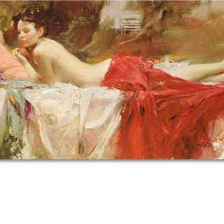 """Pino Signed """"Love Notes"""" Artist Embellished Limited Edition 40x24 on Canvas"""