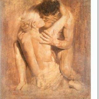 "Vatican Artist Tomasz Rut Signed ""Permirus"" Limited Edition 28x38"