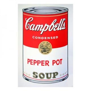 "Andy Warhol ""Soup Can 11.51 (Pepper Pot)"" 23x23 Silk Screen Print"