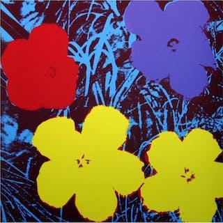 "Andy Warhol ""Flowers 11.71"" 36x36 Silk Screen Print from Sunday B Morning"