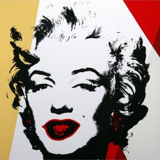 "Andy Warhol ""Golden Marilyn 11.37"" Limited Edition 36x36 Silk Screen"