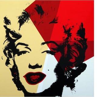 "Andy Warhol ""Golden Marilyn 11.42"" Limited Edition 36x36 Silk Screen"