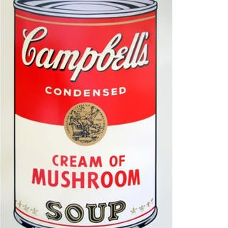 "Andy Warhol 23x23 ""Soup Can 11.53 (Cream of Mushroom)"" Silk Screen"