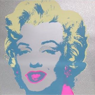 """Andy Warhol """"Diamond Dust Marilyn"""" Limited Edition 36x36 Silk Screen"""