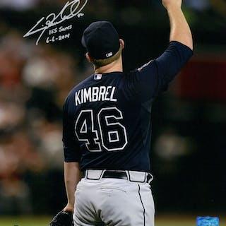 "Craig Kimbrel Signed Braves 11x14 Photo Inscribed ""155 Saves"" & ""6-6-2014"""