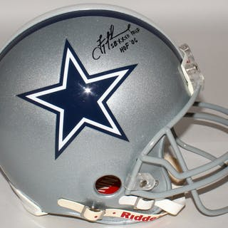10ef094cf92 Troy Aikman Signed Cowboys Full-Size Authentic On-Field Helmet Inscribed –  Current sales – Barnebys.com