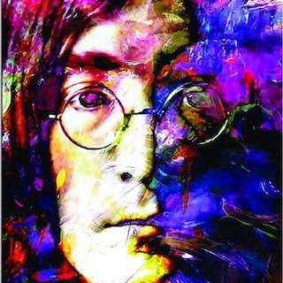 """John Lennon Study 2"" 22x32 Contemporary Beatles Pop Art, Ltd. Ed."