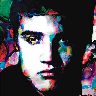 """Elvis Presley Electric Ambition"" 22x32 Contemporary American Icon"