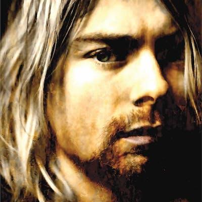 """""""Kurt Cobain As Darkness Fell"""" 22x32 Contemporary Rock Star Pop Art"""