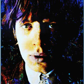 """Mic Jagger Poetic Secrets"" 22x32 Contemporary Rock Star Pop Art"