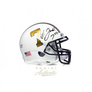 2451c0f66 Leonard Fournette Signed LSU Tigers Mini Helmet (Panini COA)