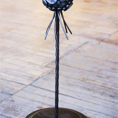 """Adam?"" 10x21x10 Original Metal Sculpture by Nate Brimhall"