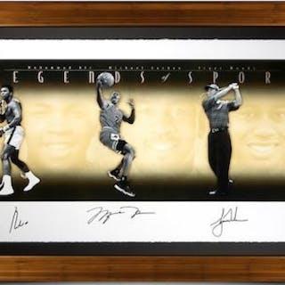"Muhammad Ali, Michael Jordan & Tiger Woods Signed ""Legends of Sport"""