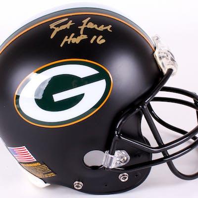Brett Favre Signed Packers Full-Size Authentic On-Field Matte Black