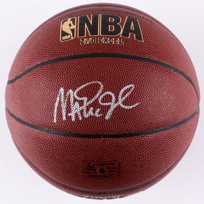 timeless design 1b004 76e9e Magic Johnson Signed Spalding NBA Basketball (Radke COA ...