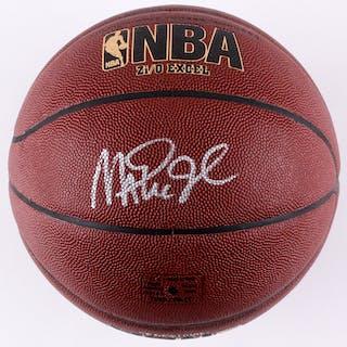 Magic Johnson Signed Spalding NBA Basketball (Radke COA)