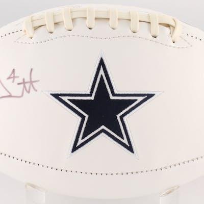 Dak Prescott Signed Dallas Cowboys Logo Football (JSA COA)