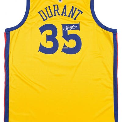 the best attitude 50dec 49a6c Kevin Durant Signed Golden State Warriors Nike City Edition ...