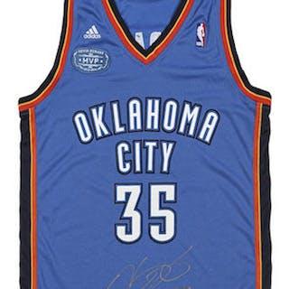 4b47ef78014 Kevin Durant Signed Oklahoma City Thunder Jersey With 2013-14 MVP