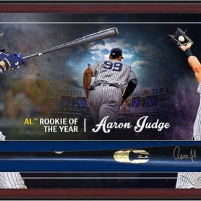 Aaron Judge Signed Yankees 49.5x23.5x3.25 Custom Framed Chandler Game