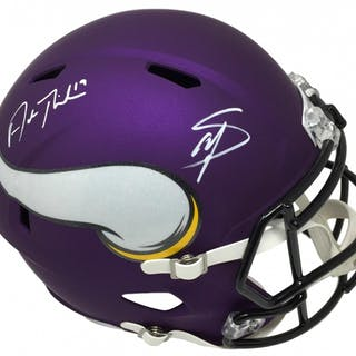 Adam Thielen Stefon Diggs Signed Vikings Full Size Matte Purple