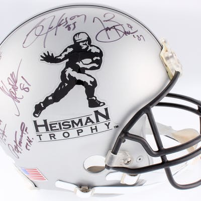 Heisman Trophy Full-Size Authentic On-Field Helmet Signed & Inscribed