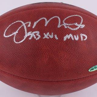 "Joe Montana Signed Official Super Bowl XVI Game Ball Inscribed ""SB"