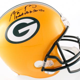 cd965bd2e Aaron Rodgers Signed Packers Full-Size Helmet Inscribed