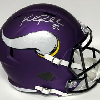 Kyle Rudolph Signed Vikings Matte Purple Full Size Speed Helmet TSE