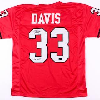 26baddbf Terrell Davis Signed Georgia Jersey Inscribed