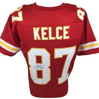 ca23e68ca Travis Kelce Signed Chiefs Jersey (JSA COA) – Current sales – Barnebys.com