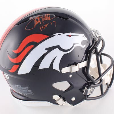 Terrell Davis Signed Broncos Full-Size Authentic On-Field Helmet Inscribed