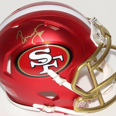 finest selection 112a7 6e423 Ronnie Lott Signed 49ers Blaze Speed Mini Helmet (Radtke COA ...