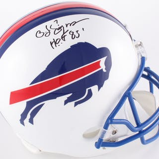 2ad14c9f6 O. J. Simpson Signed Bills Throwback Full-Size Helmet Inscribed