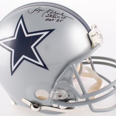Roger Staubach Signed Cowboys Full-Size Authentic On-Field Helmet