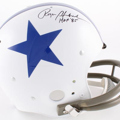 Roger Staubach Signed Cowboys Full-Size TK Suspension Helmet Inscribed