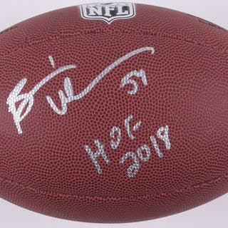 new products 4b59a 32081 Brian Urlacher Signed Football Inscribed