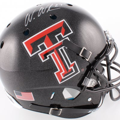 Wes Welker Signed Texas Tech Red Raiders Full-Size Authentic On-Field