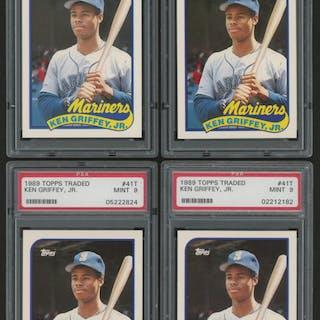 110b804bfb Lot of (4) 1989 Topps Traded #41T Ken Griffey Jr. RC (PSA 9) – Current  sales – Barnebys.com