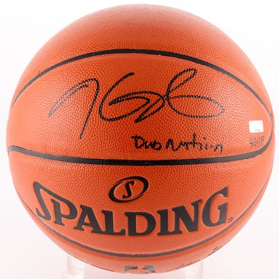 """Kevin Durant Signed LE NBA Game Ball Series Basketball Inscribed """"Dub"""
