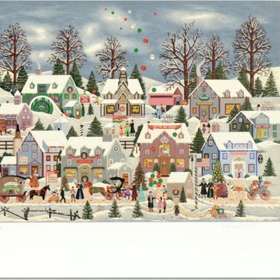 "Jane Wooster Scott Signed ""Seeking Holiday Treasures"" Limited Edition"